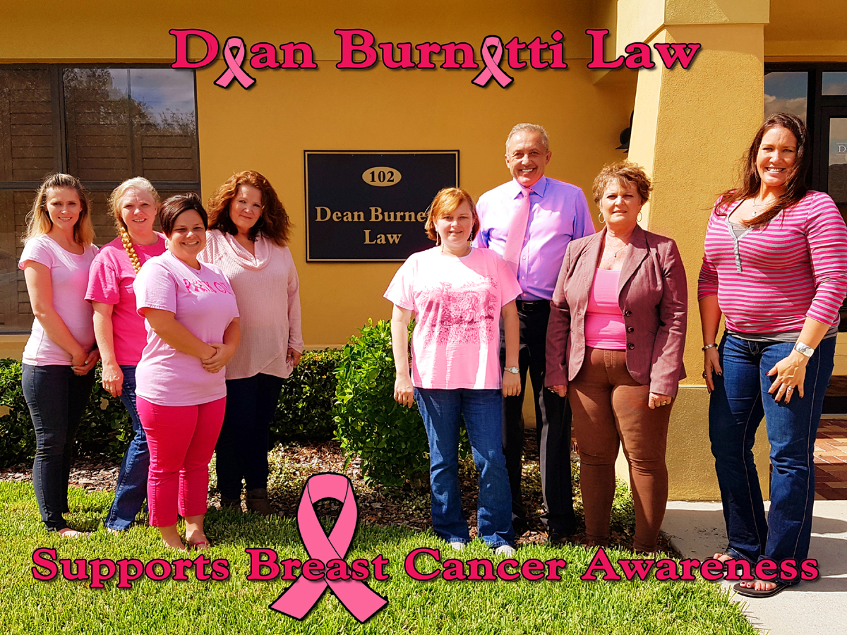 Dean Burnetti Law, Polk County's Best Personal Injury Law Firm, Supports Breast Cancer Awareness and Salutes Breast Cancer Warriors Everywhere